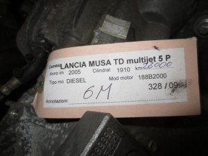 Cambio Getrag C605 Lancia  Musa del 2005 1910cc. Multijet  da autodemolizione