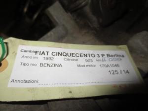 Cambio Fiat  Cinquecento del 1992 903cc.   da autodemolizione