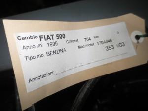 Cambio Fiat  500 del 1995 704cc.   da autodemolizione