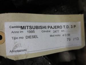 Cambio Mitsubishi  Pajero del 1995 2477cc.   da autodemolizione
