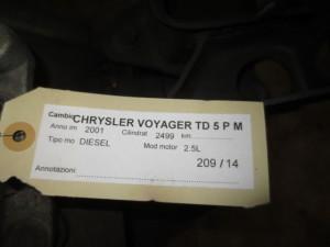 Cambio TTU289102847 P04641928AB AL119762 44450  Chrysler  Voyager del 2001 2499cc. TD  da autodemolizione