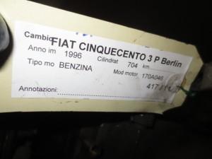 Cambio Da Fiat  Cinquecento del 1996 704cc.  Usato da autodemolizione