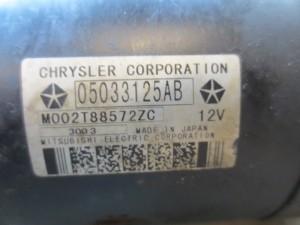Motorino Avviamento chrisler 05033125AB Jeep  Grand Cherokee del 2004 2685cc.   da autodemolizione