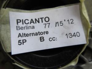 Alternatore valeo 2607775 37300-04310 70 A Kia  Picanto del 2012 998cc.   da autodemolizione
