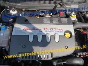 Motore 937A5000 Alfa Romeo  156 del 2005 1910cc. 16v  da autodemolizione