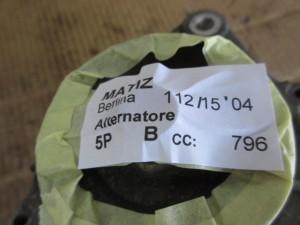 Alternatore Daewoo  Matiz del 2004 796cc.   da autodemolizione