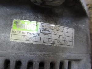 Alternatore VALEO 2541678 Fiat  Ducato del 1998 2800cc.   da autodemolizione