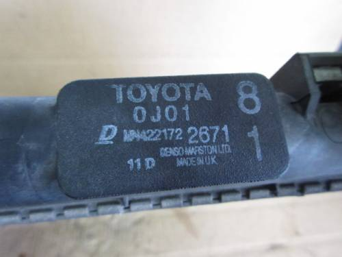 Radiatore Acqua 0J01 22172 2671 Toyota  Yaris del 2004 1298cc.   da autodemolizione