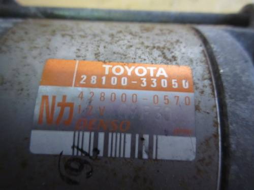 Motorino Avviamento Toyota 28100-33054 Toyota  Yaris del 2004 1364cc.   da autodemolizione