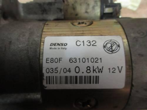 Motorino Avviamento DENSO E80F63101021 Fiat  Panda del 2004 1108cc.   da autodemolizione